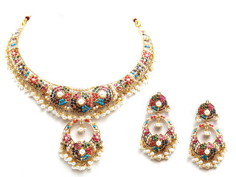 64.10g 22Kt Gold Jarou Necklace Set - 2072