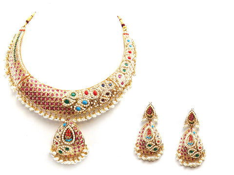 79.10g 22Kt Gold Jarou Necklace Set - 2075
