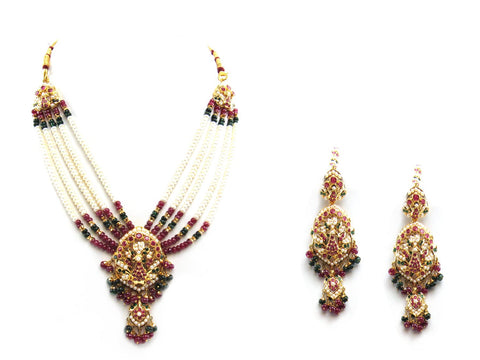 89.00g 22Kt Gold Jarou Necklace Set - 2078