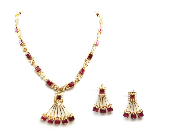 29.89g 22Kt Gold Jarou Necklace Set - 2081