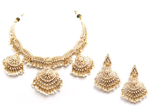 80.30g 22Kt Gold Jarou Necklace Set - 2086