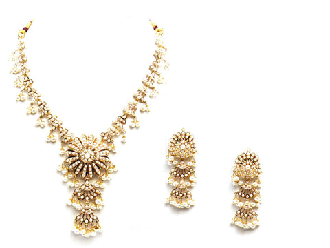 45.00g 22Kt Gold Jarou Necklace Set - 2087