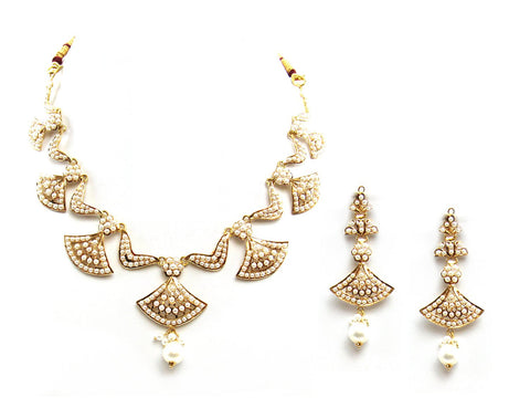 32.10g 22Kt Gold Jarou Necklace Set - 2091