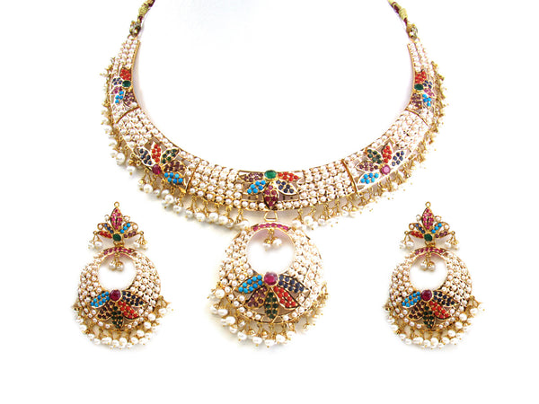 80.05g 22Kt Gold Jarou Necklace Set - 216