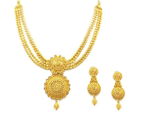 56.10g 22Kt Gold Yellow Necklace Set - 1203