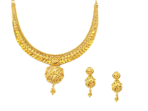 31.20g 22Kt Gold Yellow Necklace Set India Jewellery