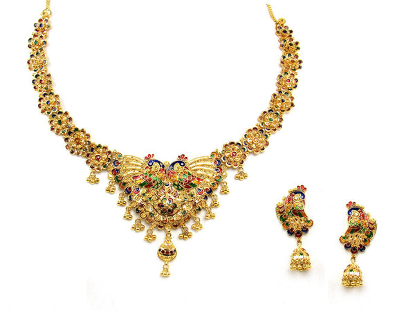 53.50g 22Kt Gold Yellow Necklace Set - 1211
