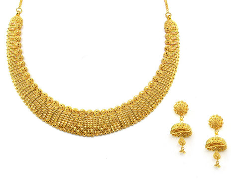 64.30g 22Kt Gold Yellow Necklace Set India Jewellery