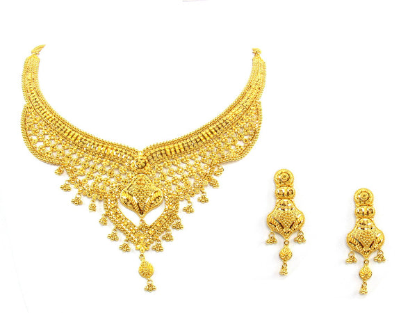 65.70g 22Kt Gold Yellow Necklace Set - 1353