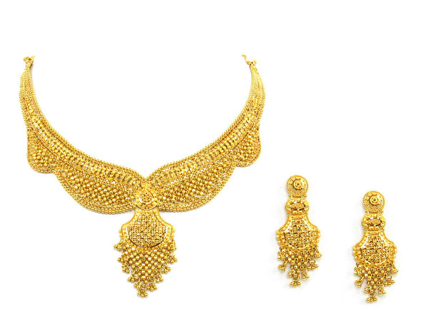 59.00g 22Kt Gold Yellow Necklace Set - 1354