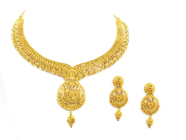54.40g 22Kt Gold Yellow Necklace Set - 1355
