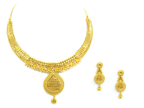 50.30g 22Kt Gold Yellow Necklace Set - 1358
