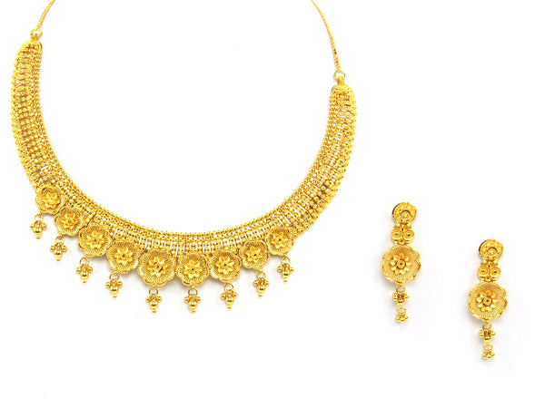 48.40g 22Kt Gold Yellow Necklace Set - 1363