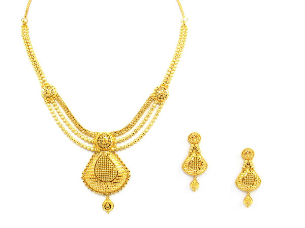 41.25g 22Kt Gold Yellow Necklace Set - 1367