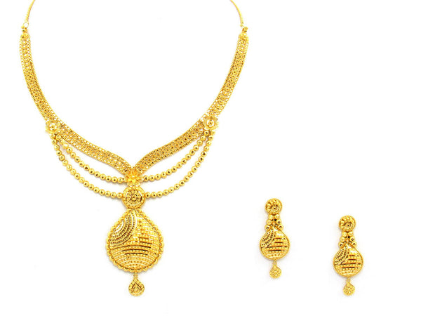 43.90g 22Kt Gold Yellow Necklace Set - 1368