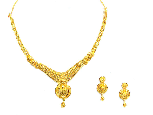 29.60g 22Kt Gold Yellow Necklace Set - 1369