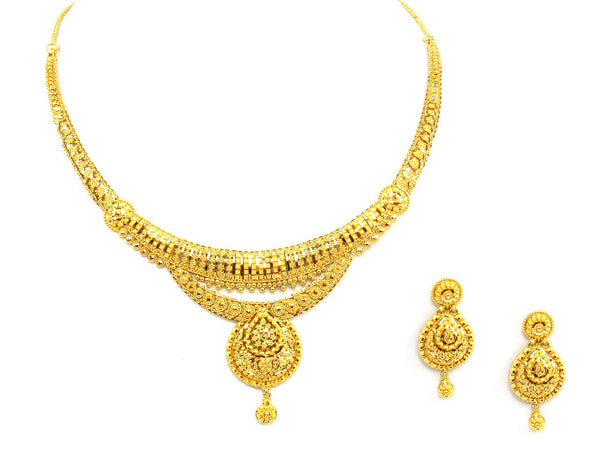 43.60g 22Kt Gold Yellow Necklace Set - 1371