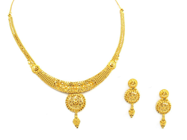 31.70g 22Kt Gold Yellow Necklace Set - 1372