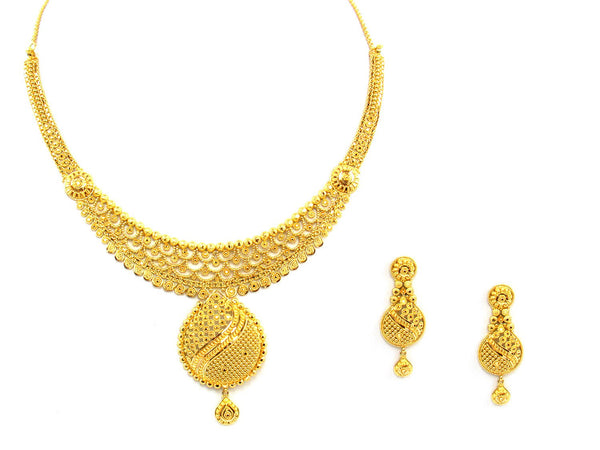 43.60g 22Kt Gold Yellow Necklace Set - 1374