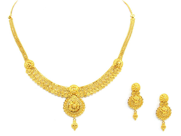 28.80g 22Kt Gold Yellow Necklace Set - 1376