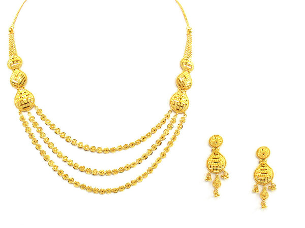 38.10g 22Kt Gold Yellow Necklace Set - 1384