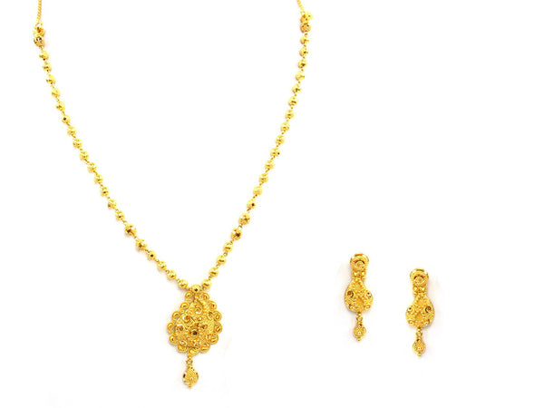 26.30g 22Kt Gold Yellow Necklace Set - 1388