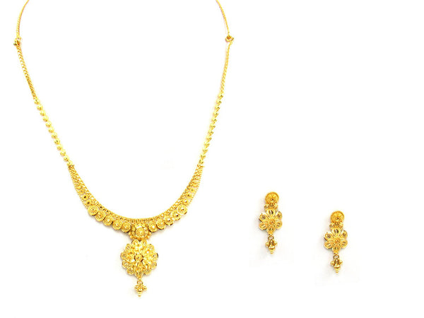 24.30g 22Kt Gold Yellow Necklace Set - 1390
