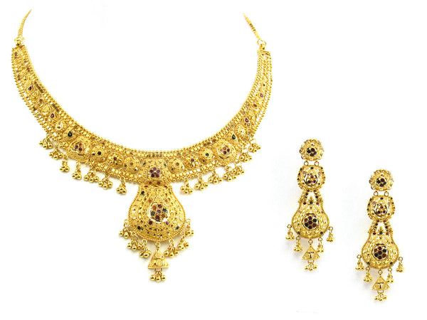 49.50g 22kt Gold Yellow Necklace Set - 150