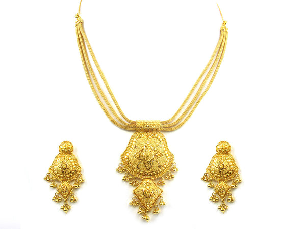 50.60g 22kt Gold Yellow Necklace Set - 153