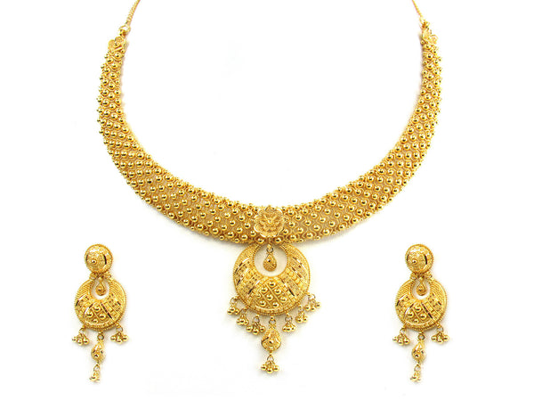 62.75g 22kt Gold Yellow Necklace Set - 158