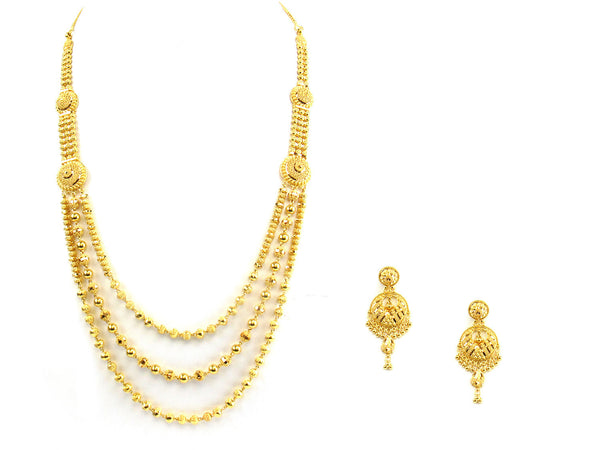 63.90g 22kt Gold Yellow Necklace Set - 159