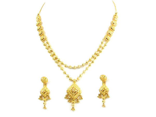 36.90g 22kt Gold Yellow Necklace Set - 162