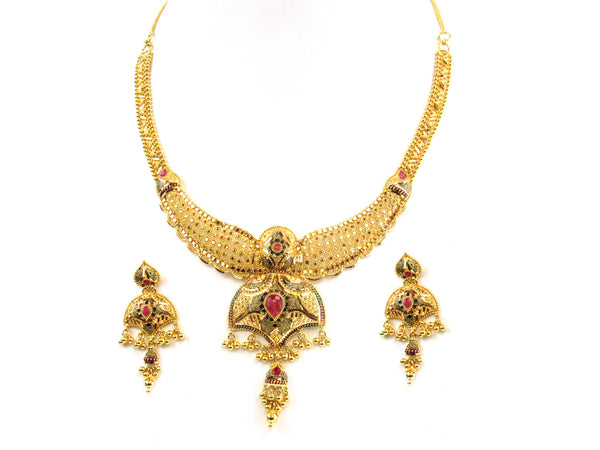 45.65g 22kt Gold Yellow Necklace Set - 163