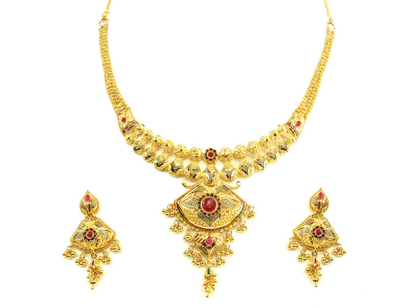 44.60g 22kt Gold Yellow Necklace Set - 165