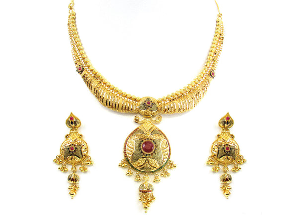 51.20g 22kt Gold Yellow Necklace Set - 166