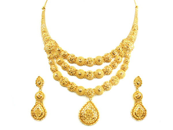 59.40g 22kt Gold Yellow Necklace Set - 168