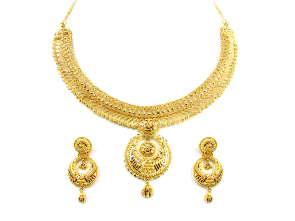 60.05g 22kt Gold Yellow Necklace Set - 172