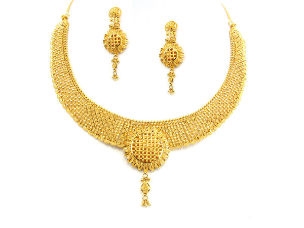 60.05g 22kt Gold Yellow Necklace Set - 173