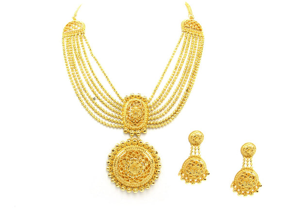 121.50g 22Kt Gold Yellow Necklace Set - 1768