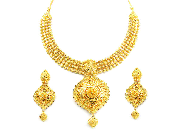 71.25g 22kt Gold Yellow Necklace Set - 176