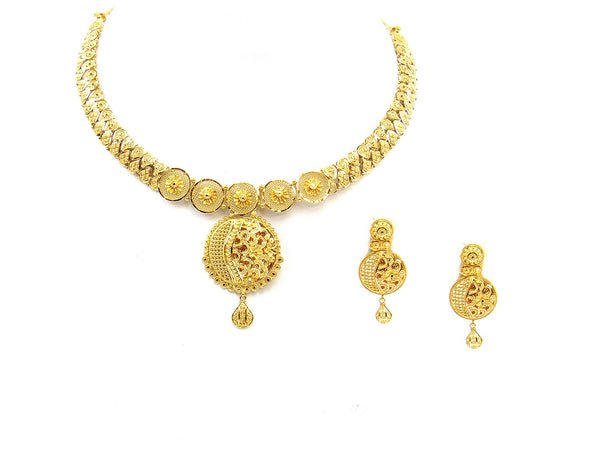 47.00g 22Kt Gold Yellow Necklace Set - 1773
