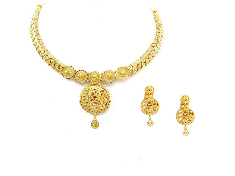 47.00g 22Kt Gold Yellow Necklace Set India Jewellery
