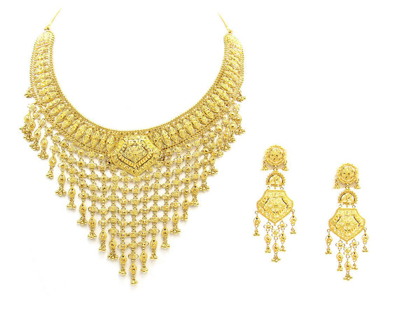 86.50g 22Kt Gold Yellow Necklace Set - 1779
