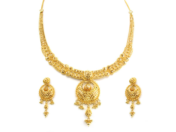 48.90g 22kt Gold Yellow Necklace Set - 177