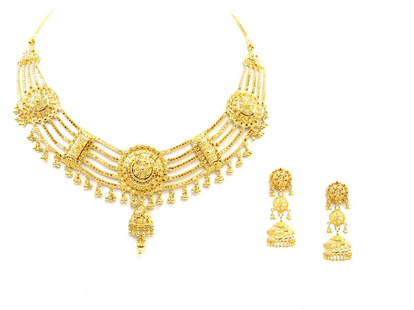 60.00g 22Kt Gold Yellow Necklace Set - 1781