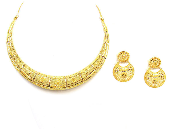 46.80g 22Kt Gold Yellow Necklace Set - 1782