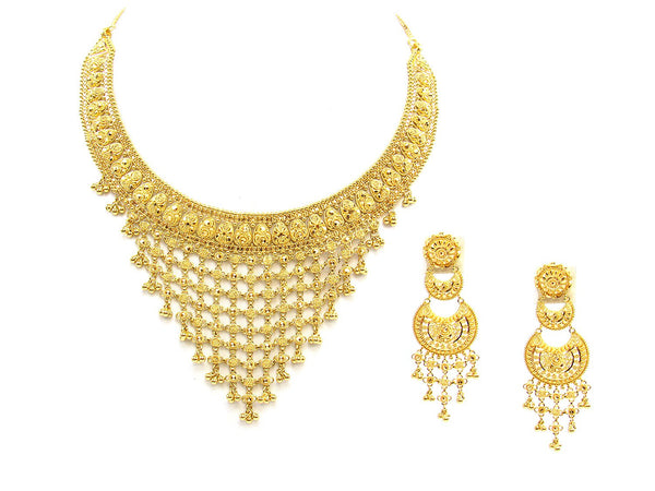 65.00g 22Kt Gold Yellow Necklace Set - 1786