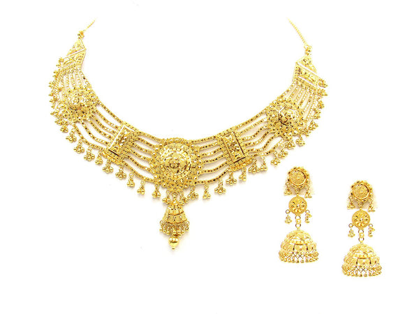 66.40g 22Kt Gold Yellow Necklace Set - 1789