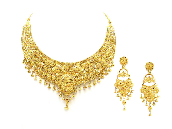 81.20g 22Kt Gold Yellow Necklace Set - 1792