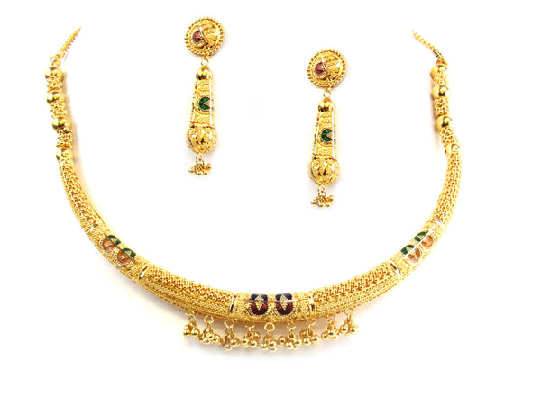 50.10g 22kt Gold Yellow Necklace Set - 179